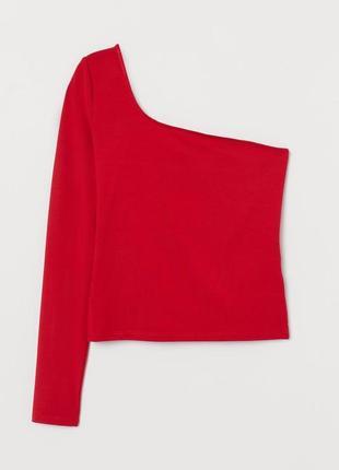 Новый летний красный топ m на одно плечо блуза на лето h&m