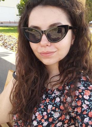 Солнцезащитные очки кошечки кошки ретро / сонцезахисні окуляри кішечки