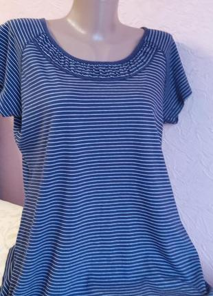 Красивая легкая футболка marks & spencer 100 % хлопок  акция 1+1 =3 на блузы , рубашки , футболки