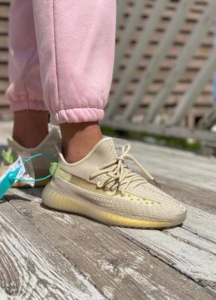 Стильные женские легкие кроссовки кеды демисезонные adidas yeezy 350 текстильные