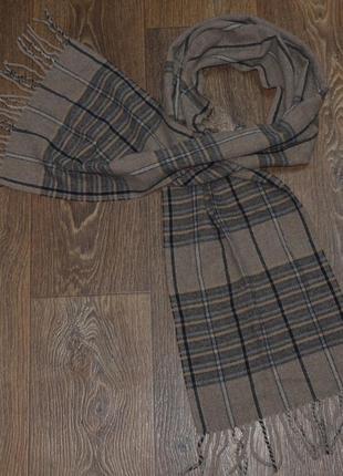 Стильный шерстяной шарф английской фирмы dents.