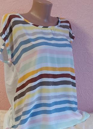 Красивая легкая футболка taifun хлопок + вискоза акция 1+1 =3 на блузы , рубашки , футболки