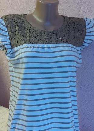 Красивая футболка с кружевом vero moda 95 % хлопок акция 1+1 =3 на блузы , рубашки , футболки