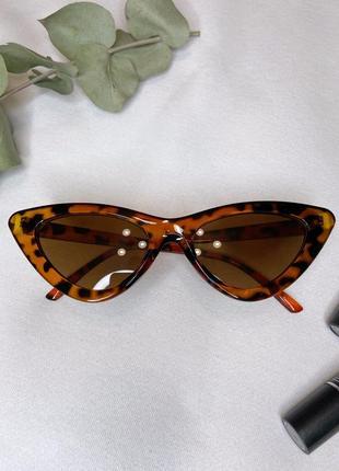 Трендовый очки cat eye кошачий глаз леопард леопардовые