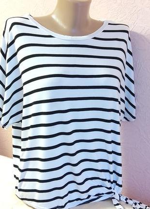 Красивая легкая футболка new look 100% вискоза акция 1+1 =3 на блузы , рубашки , футболки