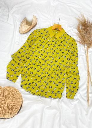 Красивая рубашка с бабочками