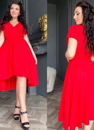 Платье женское нарядное на выход батал летнее короткое до колена