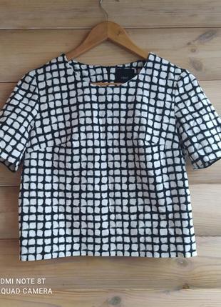 Трендовая укороченная блуза в клетку от  next