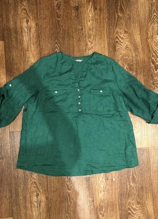 Лён marks&spenser рубашка