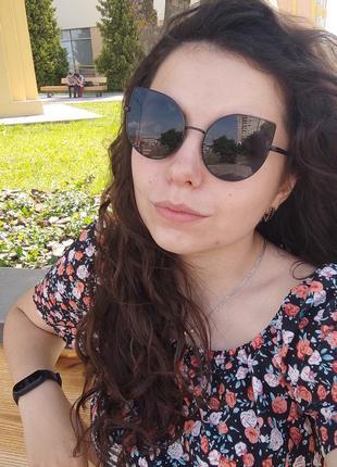 Солнцезащитные очки / кошки кошечки ретро лисички / сонцезахисні окуляри кішки