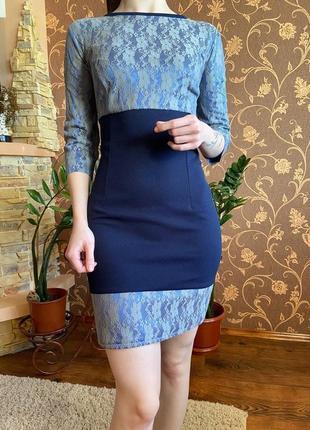 Классическое платье до колен, платье футляр, платье мини