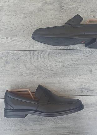 Clarks unstructed мужские кожаные туфли лоферы кожа оригинал 42.5р