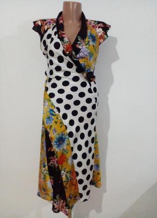 Гарна комбінована сукня в квітковий принт