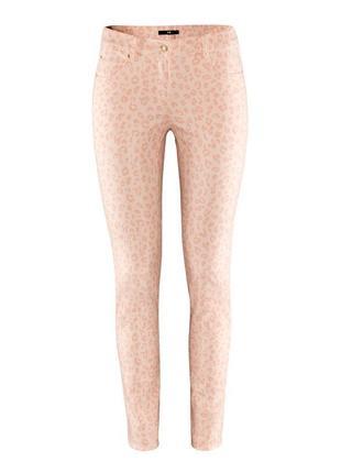 Леопардовые светло-розовые джинсы h&m, 36 р., s