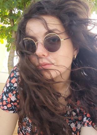 Солнцезащитные ретро очки / круглые / сонцезахисні окуляри круглі