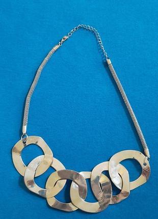 Подвеска  цепь металлическая ожерелье колье чокер