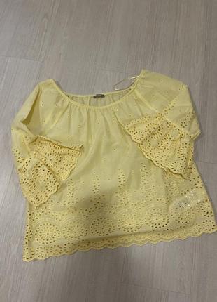 Блуза рубашка кружево решелье