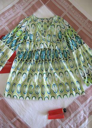 Туника пляжная/рукава воланы/блуза/100% хлопок