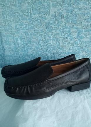 💥кожаные мокасины туфли лоферы tru-mocs softspot💥сток💥новые стелька 25 см