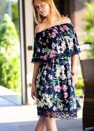 Красивое платье сарафан в цветочный принт
