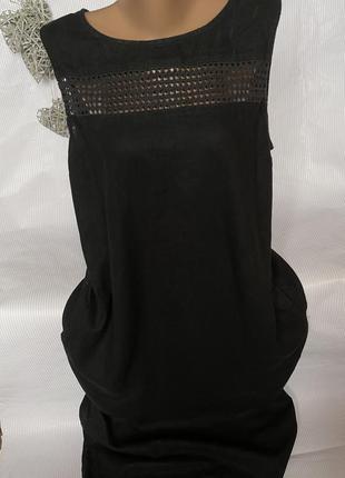 Стильное платье в пол , лён 55% вискоза 45%