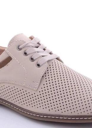 Туфли летние натуральная кожа kangfu