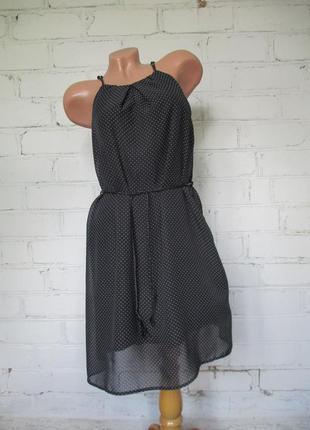 Платье в горошек шифоновое/сукна у горошок шифонова