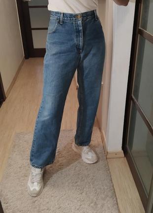 Прямые хлопковые джинсы lee.