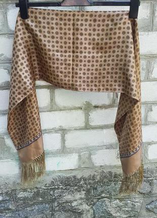Двуслойный шелковый шарф