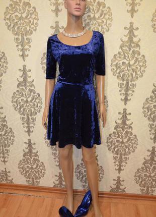 Мраморный велюр платье