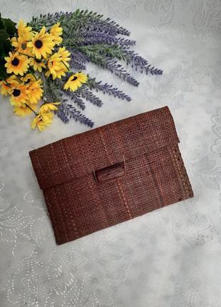 Кошелек соломенный конверт сумочка соломка натуральная ручная работа
