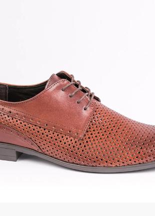 Натуральная кожа 40-45 элитные мужские туфли tapi перфорация дышащие