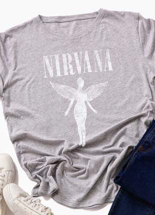 Свободная футболка nirvana