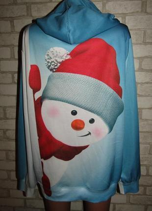 Суперовая кофточка р-р хл снеговик