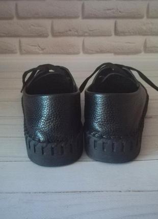Кожаные туфли кеды5 фото