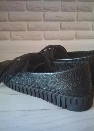 Кожаные туфли кеды6 фото