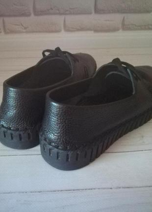 Кожаные туфли кеды4 фото