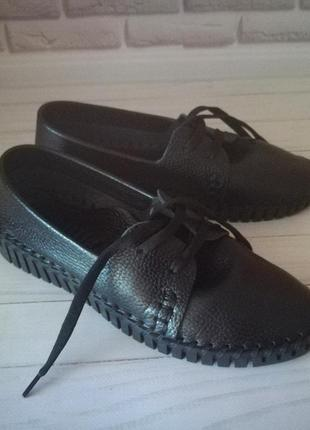 Кожаные туфли кеды3 фото