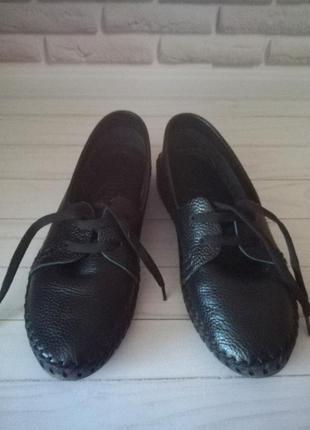 Кожаные туфли кеды2 фото