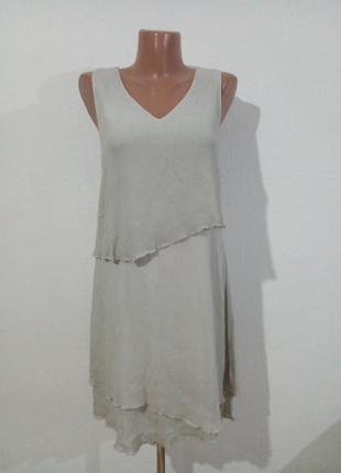 Легкое воздушное платье ярусами