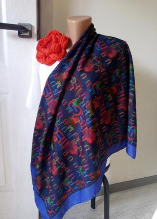 Платок большой италия цвет индиго
