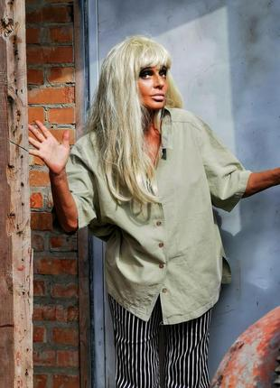 Рубашка коттон хлопок оверсайз рубаха тениска женская