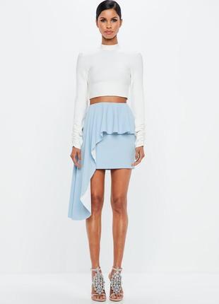 Стильная юбка с ассиметричным воланом премиум коллекции