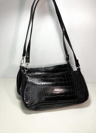 Сумка сумочка багет крокодил