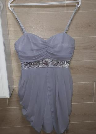 Люксовое  праздничное  платье  размер м-l