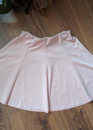 Юбка розовая на резинке