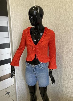 Летняя блуза в горох, xs/s, h&m