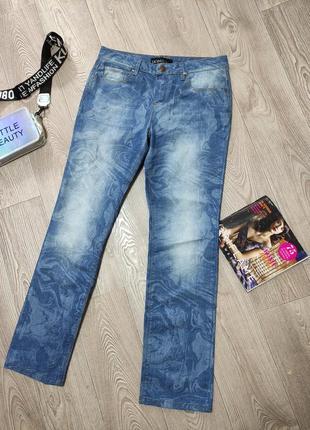 Женские летние лёгкие джинсы с узором джинси