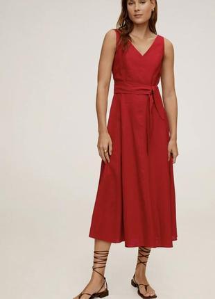 Натуральное красивое платье на лето mango💕