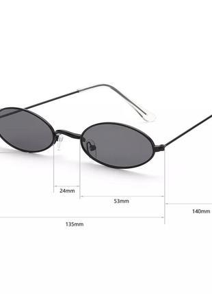 Очки овальной формы, круглые очки, узкие окуляри4 фото